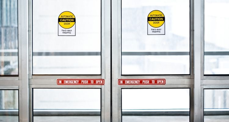 Automatic Sliding Doors in the winter
